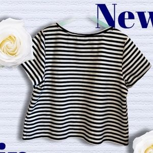 Boutique Black and White Top 1X